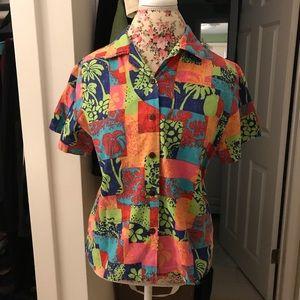 🌸🌴 Aloha Hawaiian Shirt, Multi, M